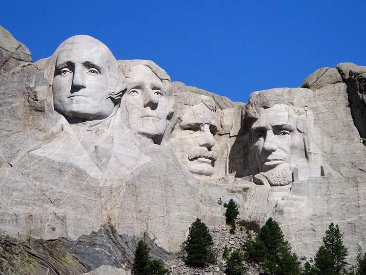 Mount Rushmore Dakota Południowa znani prezydenci USA