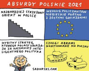 komentarz satyryczny rysunek satyra polityczna Kaczyński Dobra Zmiana