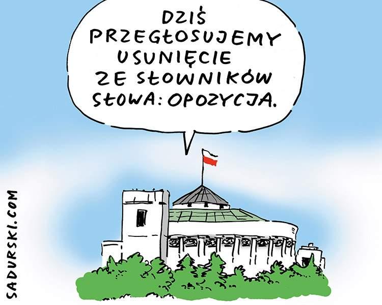 satyryczne komentarze satyra polityczna Sejm opozycja