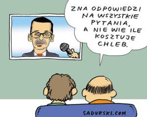 dobry humor satyra polityczna premier Morawiecki chleb cena